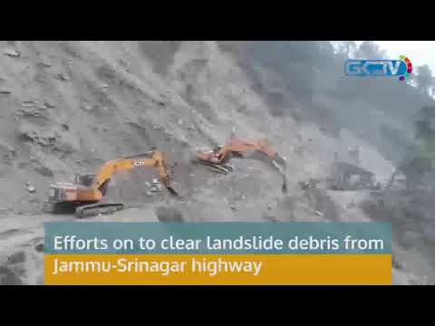 Efforts on to clear landslide debris from Jammu-Srinagar highway