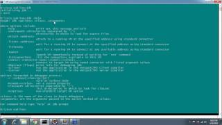 How to Debug java program from command line tool JDB