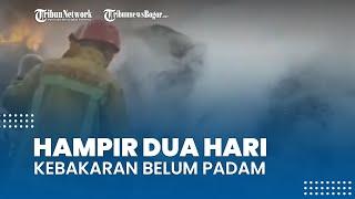 Kondisi Terkini Lokasi Kebakaran di Kawasan Gunung Putri, Hampir 2 Hari Belum Padam Sepenuhnya