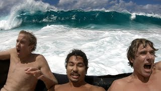 Couch Surfing Giant Shorebreak | Jamie O