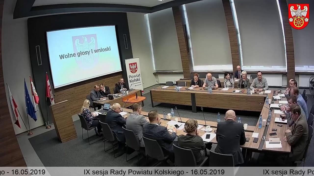 Zdjęcie do IX Sesja Rady Powiatu Kolskiego
