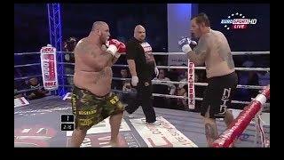 дзюдоист 170 кг против кикбоксера