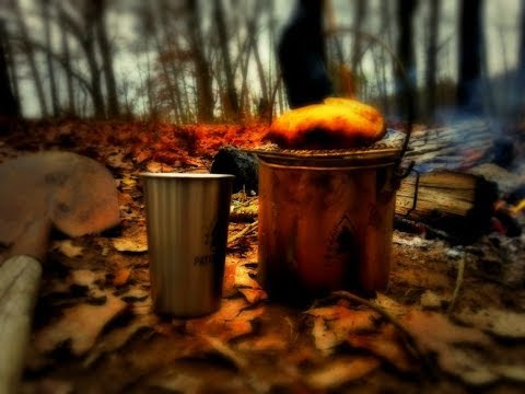 Cooking Bannock in the Bush Pot with a Pack Grill Rack