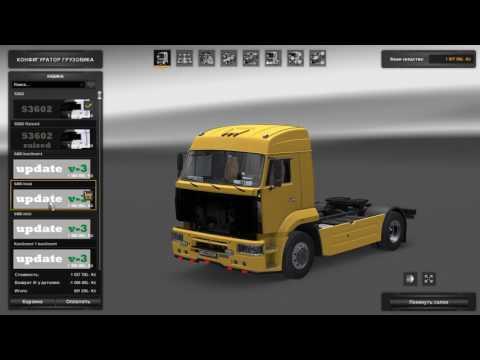 Обзор и тест Камаза в Euro Truck Simulator 2 v.1.27.1.2s