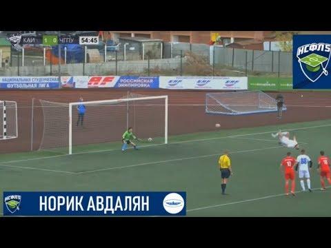 Russian footballer scores incredible 'backflip' penalty