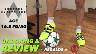 ADIDAS ACE 16.3 FG/AG | UNBOXING & REVIEW |
