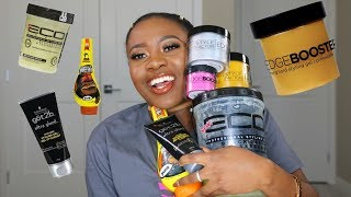 BEST GELS TO SLICK DOWN 4C NATURAL HAIR I HAVE TRIED!