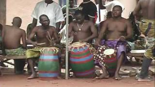Agbadza dancing in Ghana