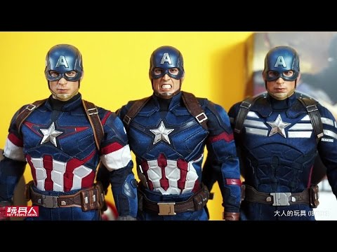 MMS350 – 美國隊長3:英雄內戰【美國隊長】Captain America 開箱