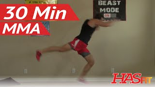 30 Min Knockout MMA Workout at Home - MMA Conditioning - MMA Workouts Exercises UFC Training by HASfit