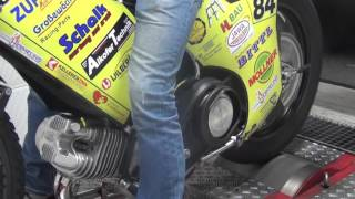 Speedwaybike Jawa Smolinski auf Prüfstand