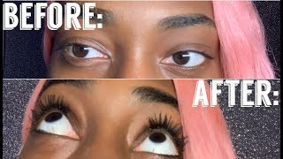 HOW TO MAKE YOUR NATURAL SHORT LASHES LOOK LIKE EXTENSIONS !!// ULTIMATE MASCARA HACK!!