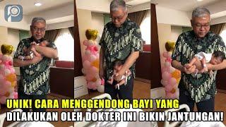 Cara Menggendong Bayi yang Dilakukan Dokter Ini Bakal Bikin Jantungan!