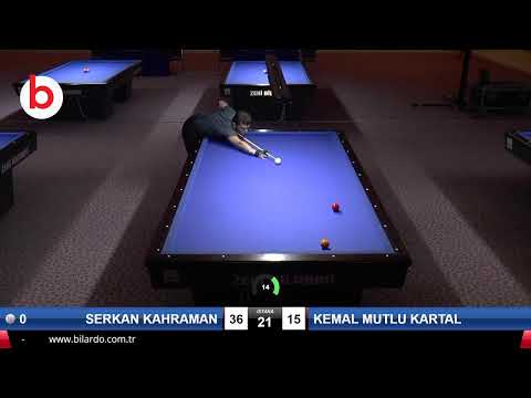 SERKAN KAHRAMAN & KEMAL MUTLU KARTAL Bilardo Maçı - 2020 TK 1.ETAP ANTALYA-FİNAL 1/16