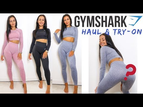 d3c1ccb447dcaf NEW GYMSHARK SEAMLESS COLLECTION TRY-ON HAUL & REVIEW| VITAL FLEX ...