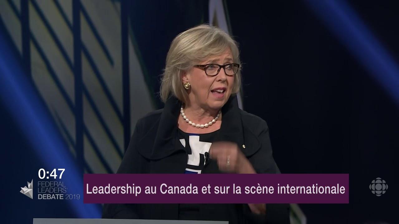 Maxime Bernier et Elizabeth May débattent sur la représentation du Canada à l'étranger