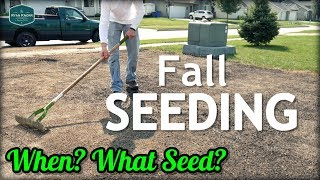 Fall Cool Season Lawn Seeding Tips // When? What Grass Seed?