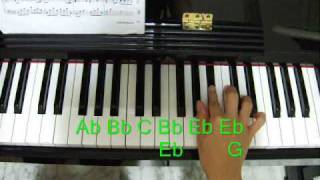 Piano tutorial- Kiss The Rain ( Right Hand Part 1 )
