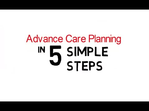 The Gold Standard Framework has a 5-step video guide to advance care planning