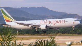 ATC Ethiopian Airlines Boeing 767-3BG(ER) ET-ALL Landing KUL WMKK RWY14L