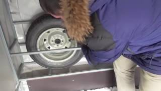 Ниша для запасных колес прицепа МЗСА 817732. ЕВРО тент. Оцинкованные крылья. ЦЛП АРИВА