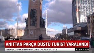 Taksim Cumhuriyet Anıtından Parça Koptu