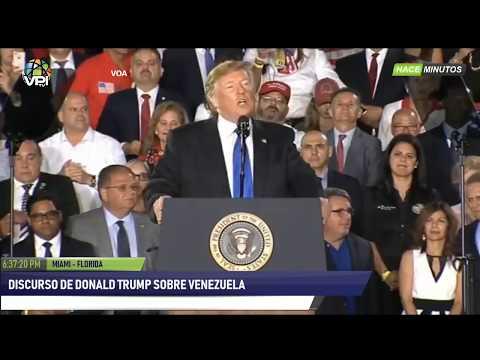 AL AIRE - Discurso de Donald Trump sobre Venezuela