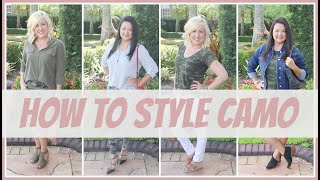 Fashion Trends For Women Over 40 | How To Style Camo Lookbook