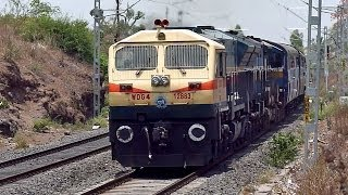 preview picture of video 'PUNE WDG-4 rescues failed KJM WDP-4B Udyan Express'