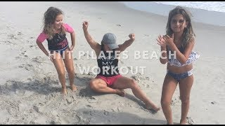 Abby & Eliza HIIT Pilates Beach Workout