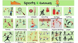 Sports and Games Vocabulary in English | Learn Names of Sports