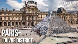 Outside the Louvre Museum, Paris - 🇫🇷 France - 4K Walking Tour