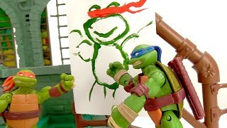 Черепашки Ниндзя – Портрет Микеланджело! – Видео для детей.