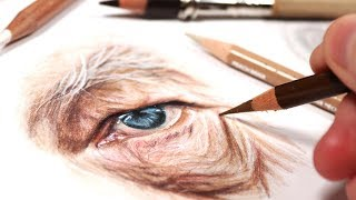 BIGGEST TIPS FOR DRAWING OLD PEOPLE IN COLORED PENCIL