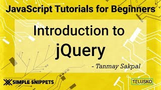 #36 Introduction to jQuery library | Setting jQuery in Project