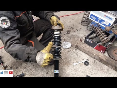 BMW e34 Stossdämpfer wechseln - shock absorber BMW e34 change - 19-020068 Billstein - SP0619 Monroe