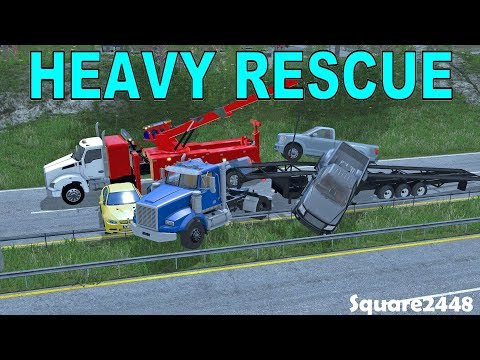 Farming Simulator 17 | Heavy Rescue | Major Car Carrier Crash | Highway Closed | New Rotator