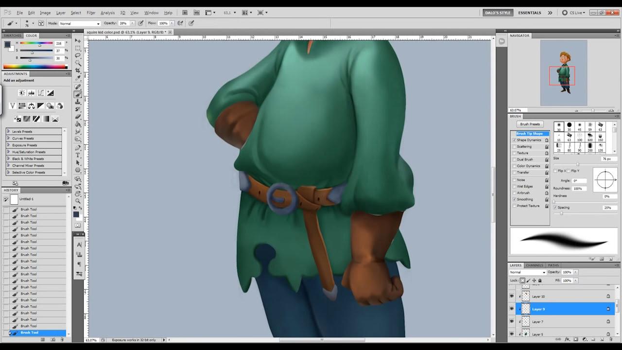 digital painting tutorial cartoon render
