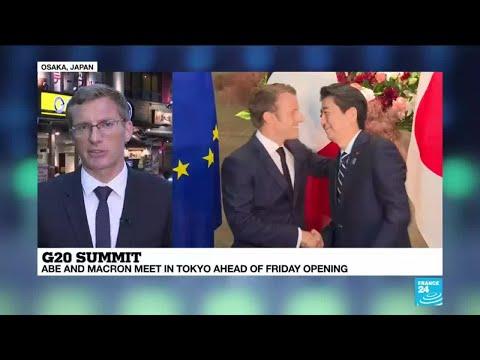 G20 Summit: Abe, Macron meet in Tokyo ahead of Friday opening