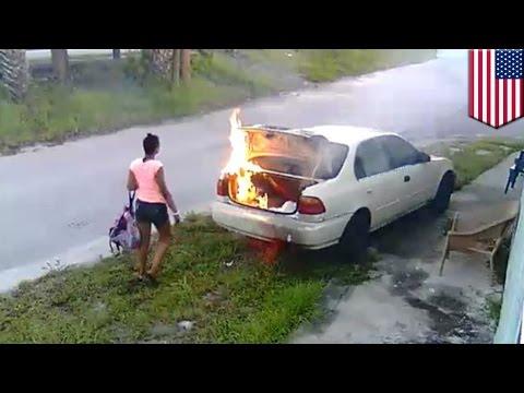 Wanita bakar mobil, mengira itu milik mantan pacarnya - Tomonews