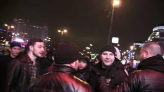 Массовая драка кавказцев у Европейского. 30 против 7
