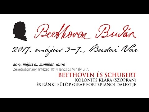 Beethoven Budán 2017 - Beethoven és Schubert - video preview image