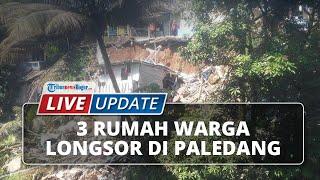 LIVE UPDATE 3 Rumah Warga Alami Longsor di Paledang Bogor Tengah