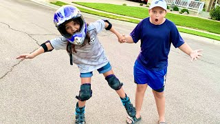 DON'T FALL! Rollerblading CHALLENGE!