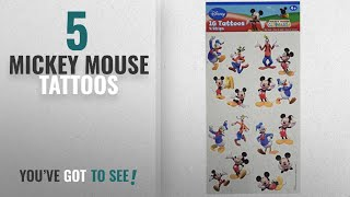 Top 10 Mickey Mouse Tattoos [2018]: Disney Mickey Mouse Birthday Party Temporary Tattoos Favour,