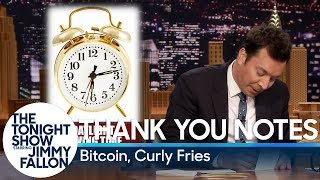 Thank You Notes: Bitcoin, Curly Fries