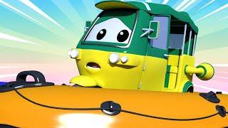 Авто Патруль -  Тук-тук Тао потерялся в лесу! - Автомобильный Город  🚓 🚒 детский мультфильм