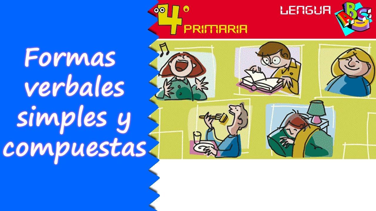 Lengua Castellana. 4º Primaria. Tema 7. Formas verbales simples y compuestas