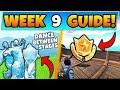 Fortnite WEEK 9 CHALLENGES! - Ice Sculptures, Battle Star, Dinosaurs (Battle Royale Season 8 Guide)