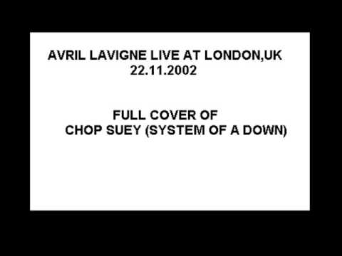 Avril Lavigne - FULL COVER Chop Suey (system of a down) LIVE